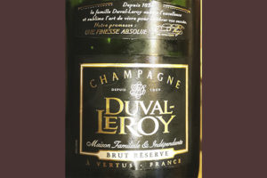 Champagne Duval-Leroy Brut Reserve blanc Белое шампанское брют отзыв