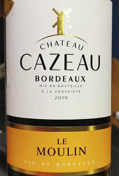 Chateau Cazeau Le Moulin Bordeaux 2019 Красное сухое вино отзыв