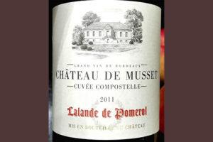 Chateau de Musset Cuvee Compostelle Lalande de Pomerol 2011 Красное сухое вино отзыв