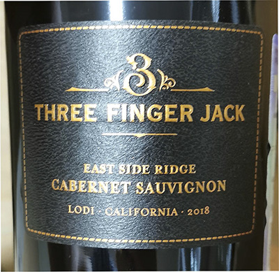 Delicato Three Finger Jack East Sade Ridge Cabernet Sauvignon Lodi California 2018 Красное сухое вино отзыв