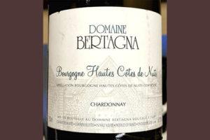 Domaine Bertagna Chardonnay Bourgogne Hautes Cotes de Nuits 2016 Белое сухое вино отзыв
