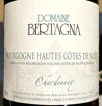 Domaine Bertagna Chardonnay Bourgogne Hautes Cotes de Nuits 2017 Белое сухое вино отзыв