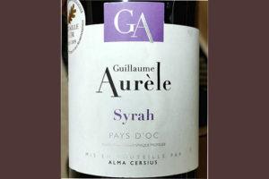 Guillaume Aurele Syrah 2018 Красное сухое вино отзыв