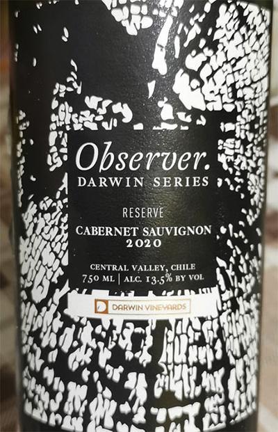 Observer Darwin Series Cabernet Sauvignon Reserve 2020 Красное сухое вино отзыв