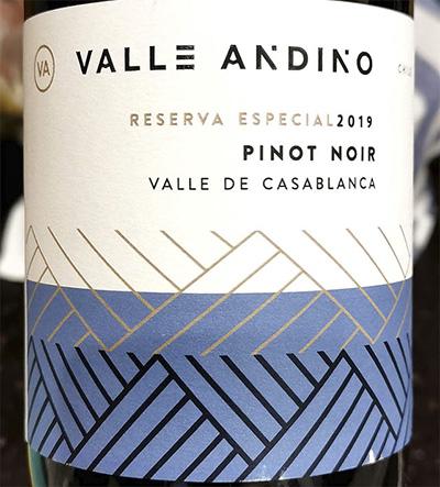 Valle Andino Pinot Noir Reserva Especial 2019 Красное сухое вино отзыв