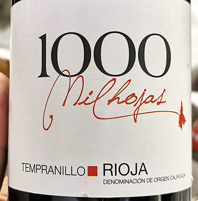 1000 Mil Hojas Tempranillo tinto Rioja 2020 Красное сухое вино отзыв