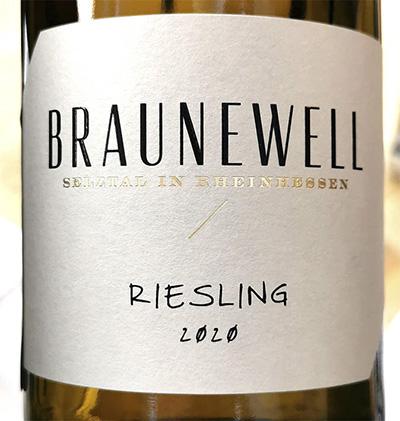 Braunewell Riesling Qualitatswien Rheinhessen 2020 Белое сухое вино отзыв