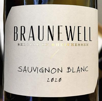 Braunewell Sauvignon Blanc Rheinhessen 2020 Белое сухое вино отзыв