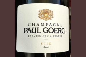 Champagne Paul Goerg Absolu Rose Brut Premier Cru a Vertus 2016 Игристое розовое брют Отзыв