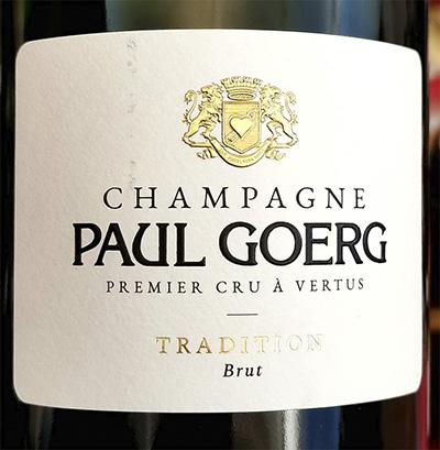 Champagne Paul Goerg Tradition Brut Premier Cru a Vertus 2015 Игристое белое брют Отзыв