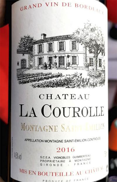 Chateau La Courolle Montagne Saint-Emillon 2016 Красное сухое вино отзыв