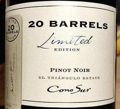 Cono Sur 20 Barrels Pinot Noir Limited Edition 2018 Красное сухое вино отзыв