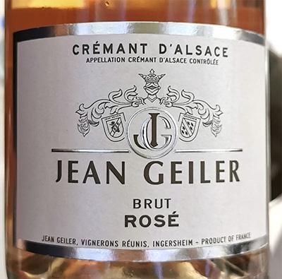 Jean Geiler Cremant d'Alsace Brut Rose 2019 Игристое розовое брют Отзыв