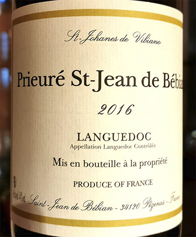 Prieure St-Jean de Bebian Languedoc 2016 Белое сухое вино отзыв