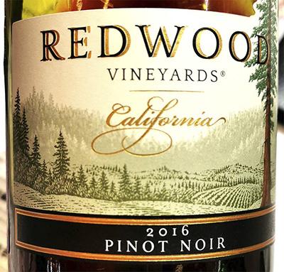 Redwood Vineyards Pinot Noir California 2016 Красное сухое вино отзыв