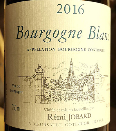 Remi Jobard Bourgogne Blanc 2016 Белое сухое вино отзыв