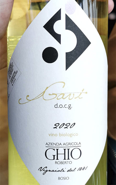 Roberto Ghio Gavi vino biologico 2020 Белое сухое вино отзыв