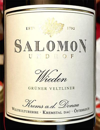 Salomon Undhof Wieden Gruner Veltliner Krems a.d. Donau 2019 Белое сухое вино отзыв