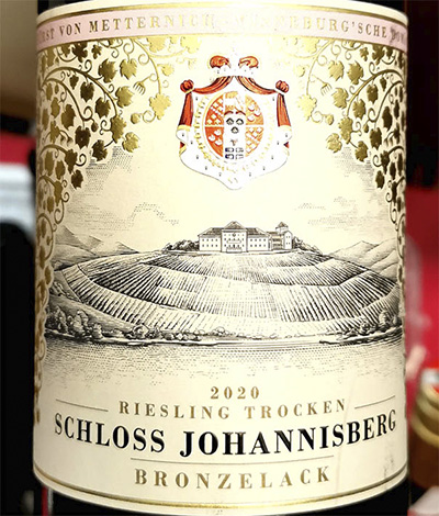 Schloss Johannisberg Bronzelack Riesling trocken 2020 Белое сухое вино отзыв